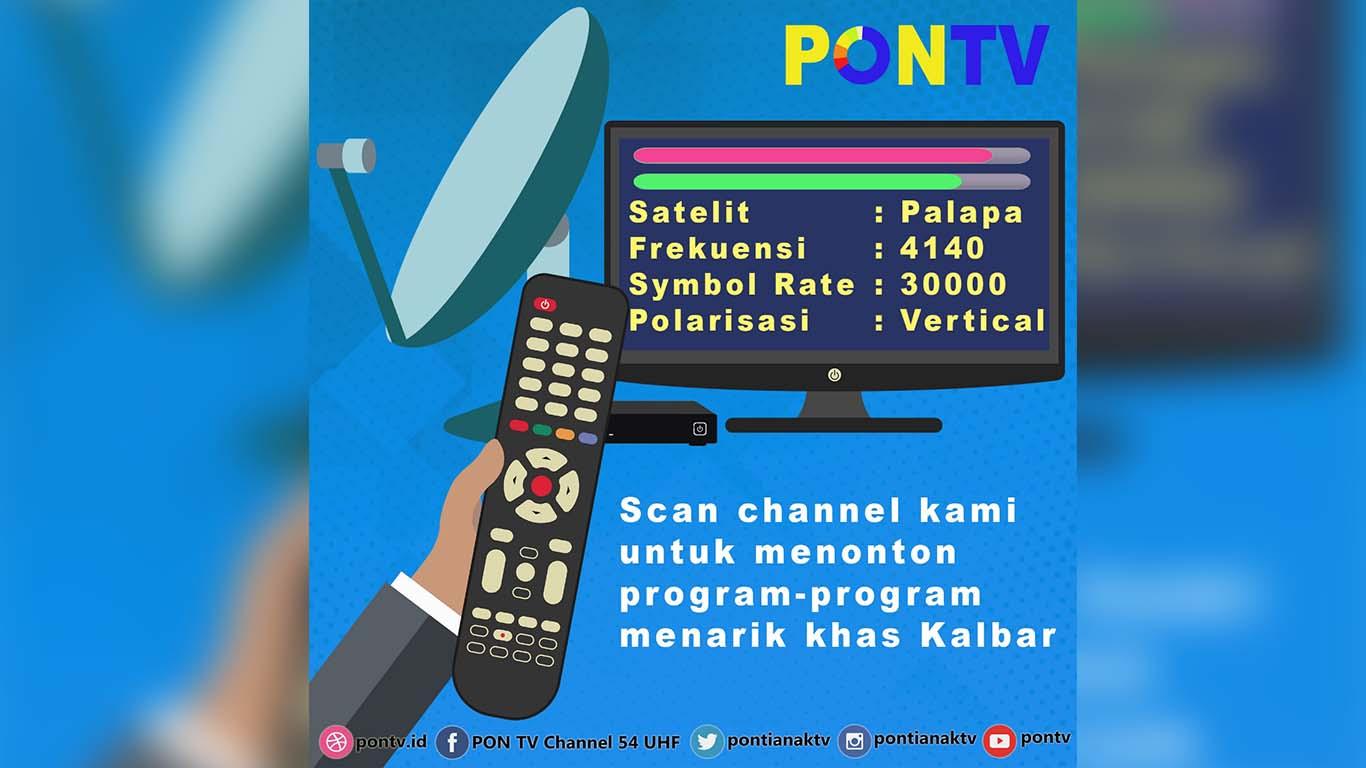Frekuensi Terbaru Channel PONTV Pontianak di Satelit Palapa D