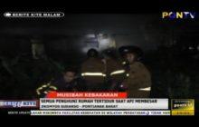 Musibah Kebakaran, Semua Penghuni Rumah Tertidur Saat Api Membesar