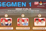 Debat Publik Tahap II Antar Cagub & Cawagub Kalbar (1/6)