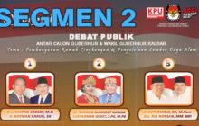 Debat Publik Tahap II Antar Cagub & Cawagub Kalbar (2/6)