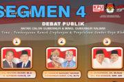 Debat Publik Tahap II Antar Cagub & Cawagub Kalbar (4/6)