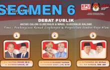 Debat Publik Tahap II Antar Cagub & Cawagub Kalbar (6/6)